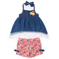 Little Lass Short Set Baby Girls