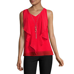 by&by Woven Tank Top-Juniors