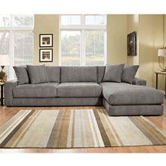 Fabric Possibilities Ponderosa Quick Ship 2pc Sectional in Curious