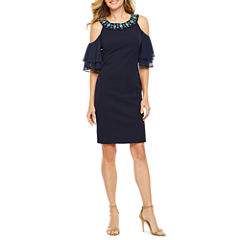 Melrose Cold Shoulder Short Sleeve Sheath Dress
