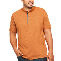 The Foundry Big & Tall Supply Co. Short Sleeve Henley Shirt Big and Tall