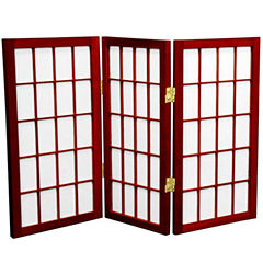Oriental Furniture 2 Ft. Tall Desktop Window PaneShoji Screen Room Divider