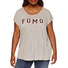 Boutique + Short Sleeve Scoop Neck Graphic T-Shirt