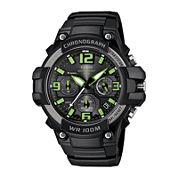 Casio® Mens Black Resin Strap Chronograph Sport Watch MCW100H-3AVCF