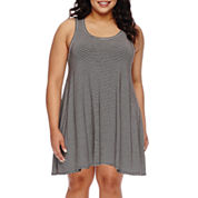 Decree® Sleeveless Swing Tunic Dress - Juniors Plus