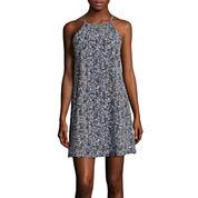 Decree® Sleeveless Halter Swing Dress- Juniors