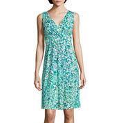 St. John's Bay® Sleeveless Floral Tank A-Line Dress