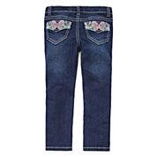 Arizona Butterfly Back Pocket Jeans - Toddler Girls 2t-5t