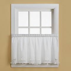 Battenburg Rod-Pocket Kitchen Curtains