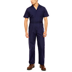 Walls Poplin Short Sleeve Coverall - Big & Tall