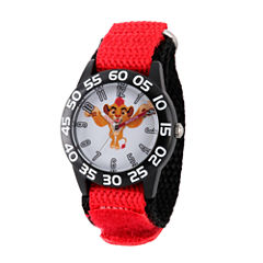Disney Collection Lion Guard Boys Red Plastic Nylon Strap Watch