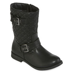 Arizona Wellington Girls Quilted Moto Boots - Little Kids