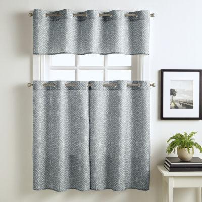 Neiva Grommet Top Kitchen Curtains