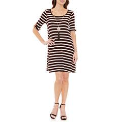 Alyx Elbow Sleeve Shift Dress