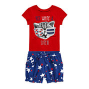 Okie Dokie® Americana Tee or Americana Shorts - Baby Girls newborn-24m