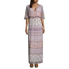 Love Reigns 3/4 Sleeve Maxi Dress-Juniors