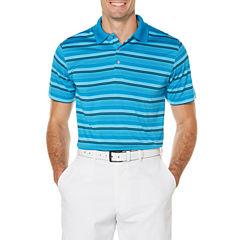 PGA Tour Short Sleeve Stripe Jersey Polo Shirt Big and Tall