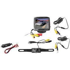 Pyle PLCM34WIR 3.5IN Wireless Backup Camera & Monitor System with Night Vision