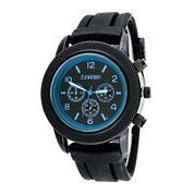 Zunammy® Mens Black Silicone Strap Watch