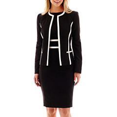 Black Label by Evan-Picone Contrast-Trim Jacket or Sheath Dress