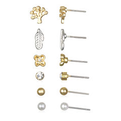 Mixit™ Nature Gold-Tone Delicate Earring Set of 6