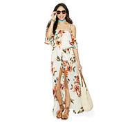 Love Reigns 3/4 Sleeve Maxi Dress-Juniors
