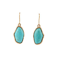 Artsmith By Barse Blue Howlite Bronze Drop Earrings