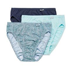 Jockey® Elance® 3-pk. French-Cut Panties - 1485 Plus