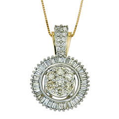 diamond blossom 1 CT. T.W. Diamond 10K Yellow Gold Pendant Necklace