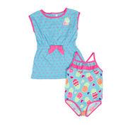 Wippette 2-pc. Pineapple Swimsuit Set - Baby Girls newborn-24m
