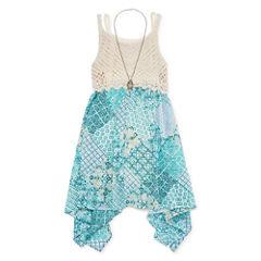 Knit Works Crochet and Chiffon Dress - Girls' 7-16