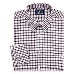 Stafford Travel Wrinkle-Free Oxford Long Sleeve Dress Shirt Big And Tall Long Sleeve Dress Shirt