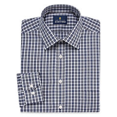 Stafford Travel Easy-Care Broadcloth-Big & Tall Long Sleeve Dress Shirt