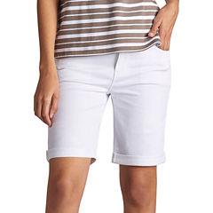 Lee Modern Fit Denim Bermuda Shorts-Petites