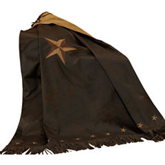 HiEnd Accent Laredo Embroidered Star Throw
