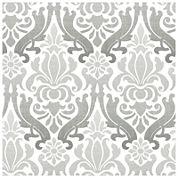 NuWallpaper Grey Nouveau Damask Peel and Stick Wallpaper