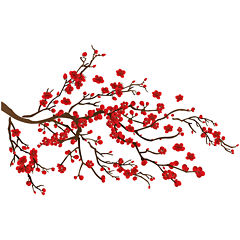 Red Ramage Wall Decals