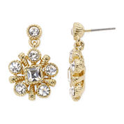 Monet® Crystal-Accent Gold-Tone Drop Earrings