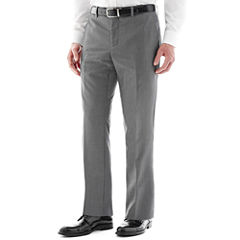 Savile Row® Gray Flat-Front Suit Pants - Slim
