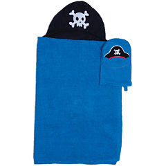 Pirate Hooded Towel and Wash Mitt Set
