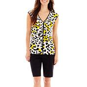 Worthington® V-Neck Top or Sateen Bermuda Shorts