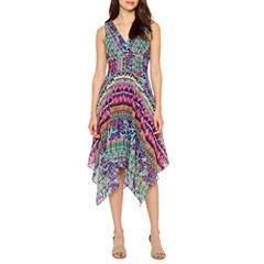 Rabbit Rabbit Rabbit Design Sleeveless Maxi Dress