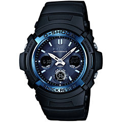 men s watches for jewelry watches jcpenney casio® g shock mens multi band 6 atomic blue watch awgm100a