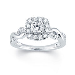 Modern Bride® Signature 3/4 CT. T.W. Diamond 14K White Gold Engagement Ring