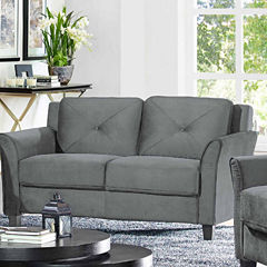 Hayward Trio Curved Slope-Arm Upholstered Loveseat