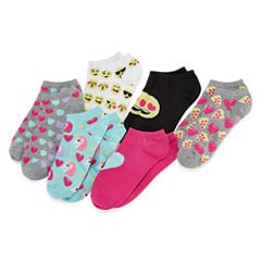 Total Girl 6 Pair Low Cut Socks