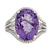 LIMITED QUANTITIES Oval Amethyst Sterling Silver Ring