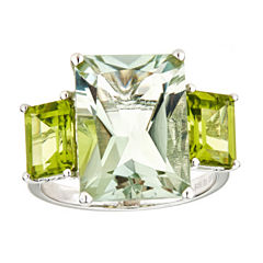 LIMITED QUANTITIES Parasiolite and Peridot Sterling Silver Ring