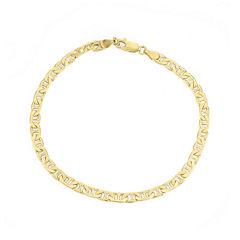 Mens 18K Yellow Gold Over Silver 9