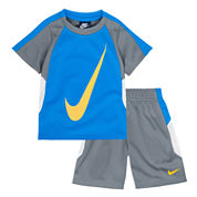 Nike® 2-pc. Short-Sleeve Tee and Shorts Set - Toddler Boys 2t-4t